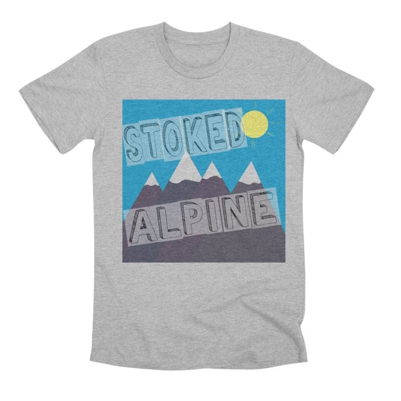 Stoked Alpine Logo Men's Premium T-Shirt by stokedalpine's Artist Shop