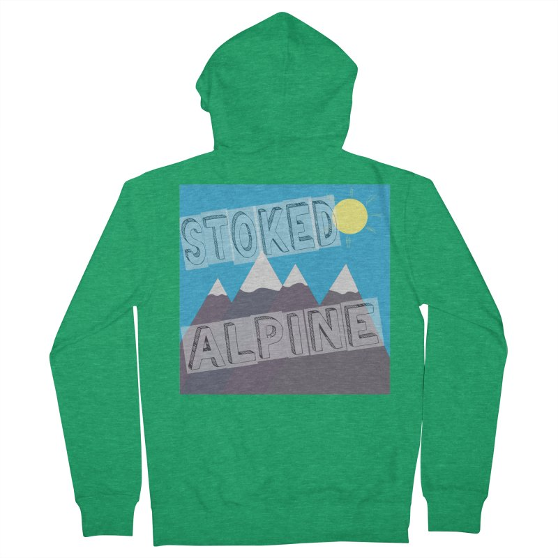 Stoked Alpine Logo Men's French Terry Zip-Up Hoody by stokedalpine's Artist Shop