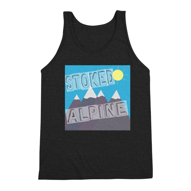 Stoked Alpine Logo Men's Triblend Tank by stokedalpine's Artist Shop