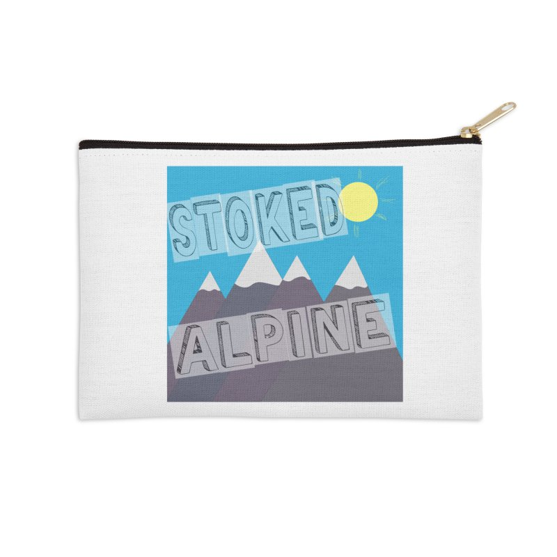 Stoked Alpine Logo Accessories Zip Pouch by stokedalpine's Artist Shop