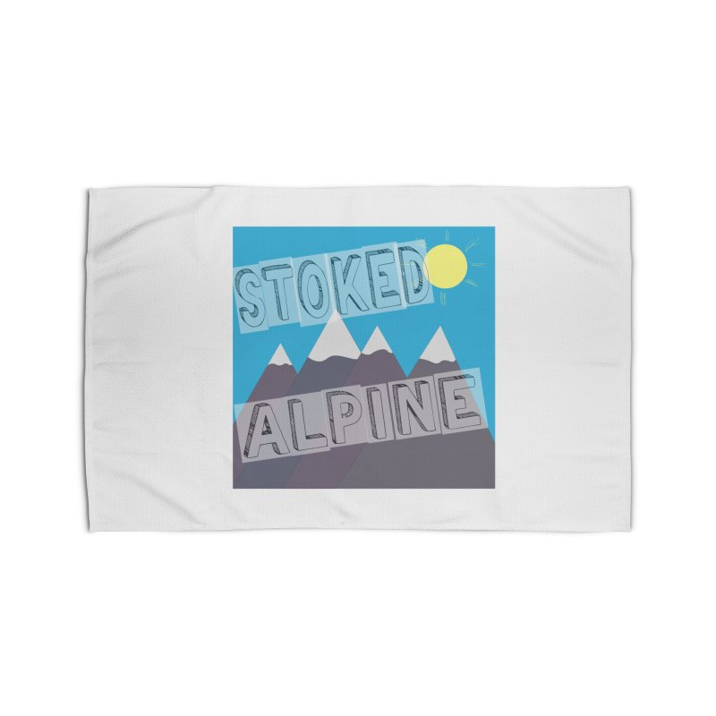 Stoked Alpine Logo Home Rug by stokedalpine's Artist Shop