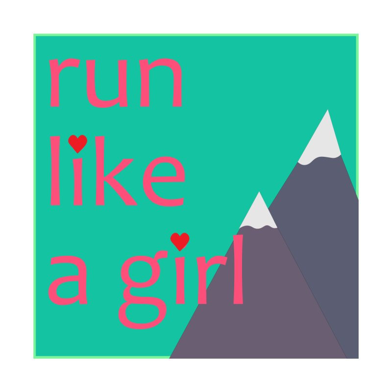 Run Like A Girl Accessories Zip Pouch by stokedalpine's Artist Shop