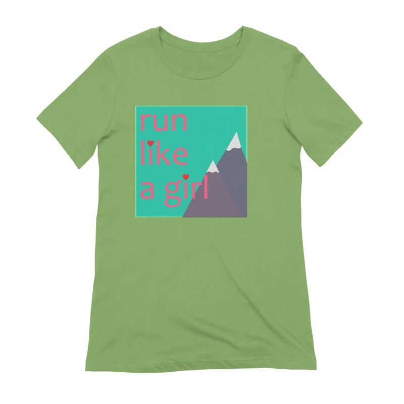 Run Like A Girl Women's Extra Soft T-Shirt by stokedalpine's Artist Shop