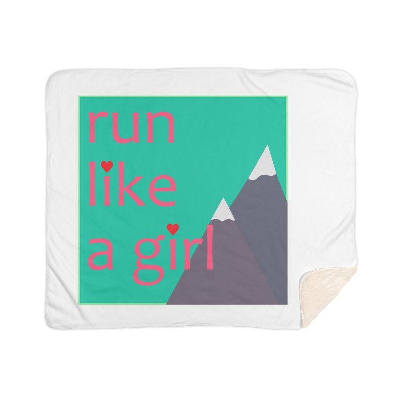 Run Like A Girl Home Blanket by stokedalpine's Artist Shop