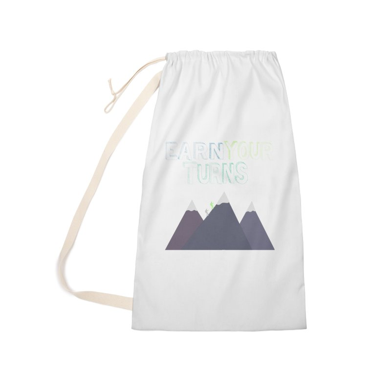 Earn Your Turns- No Background Accessories Bag by stokedalpine's Artist Shop