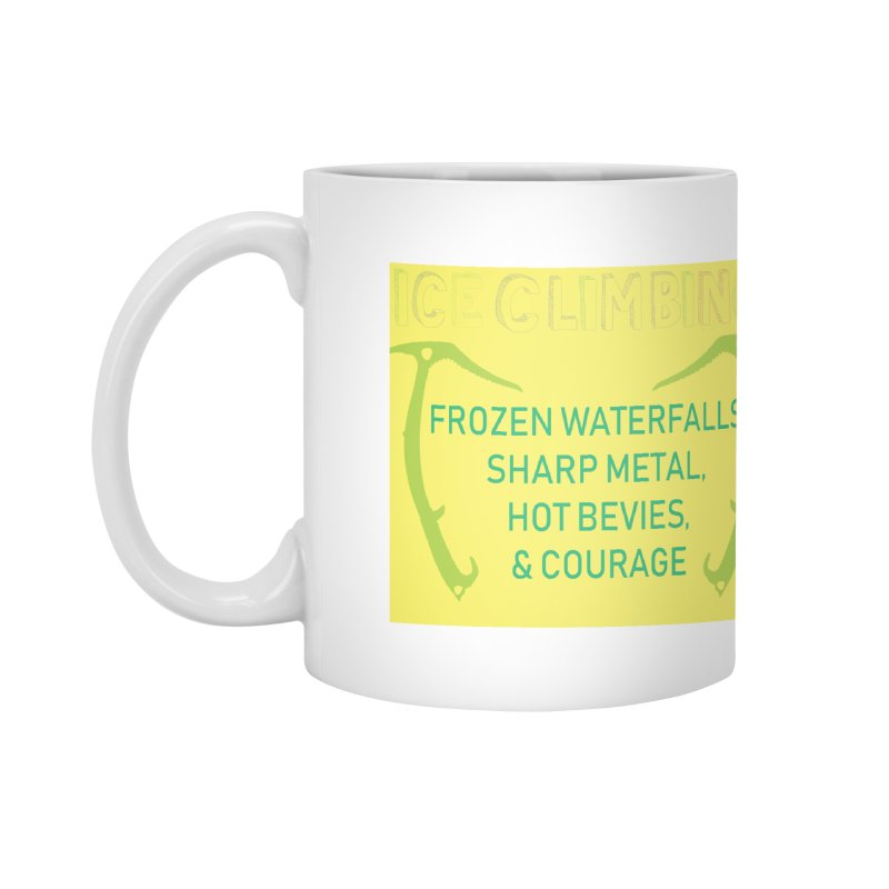 Ice Climbing Accessories Mug by stokedalpine's Artist Shop