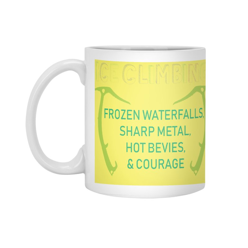 Ice Climbing Accessories Standard Mug by stokedalpine's Artist Shop