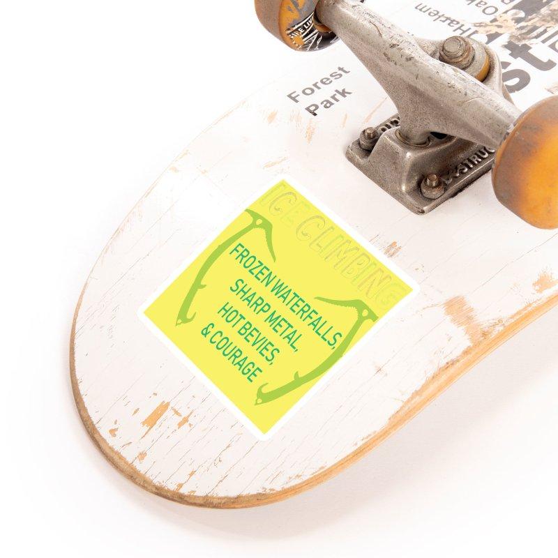 Ice Climbing Accessories Sticker by stokedalpine's Artist Shop