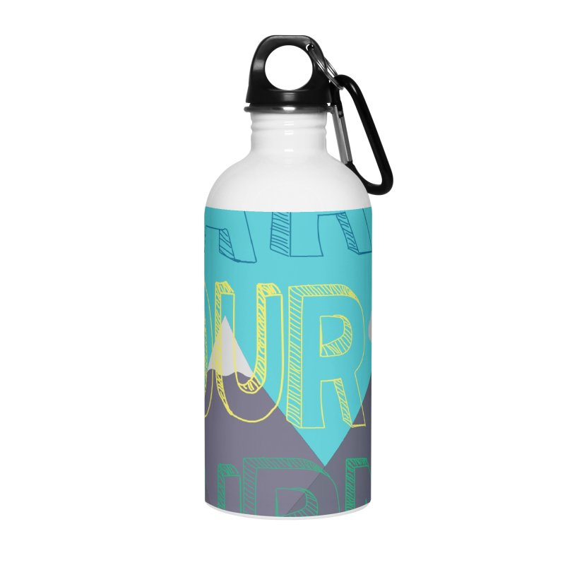 Earn Your Turns Accessories Water Bottle by stokedalpine's Artist Shop