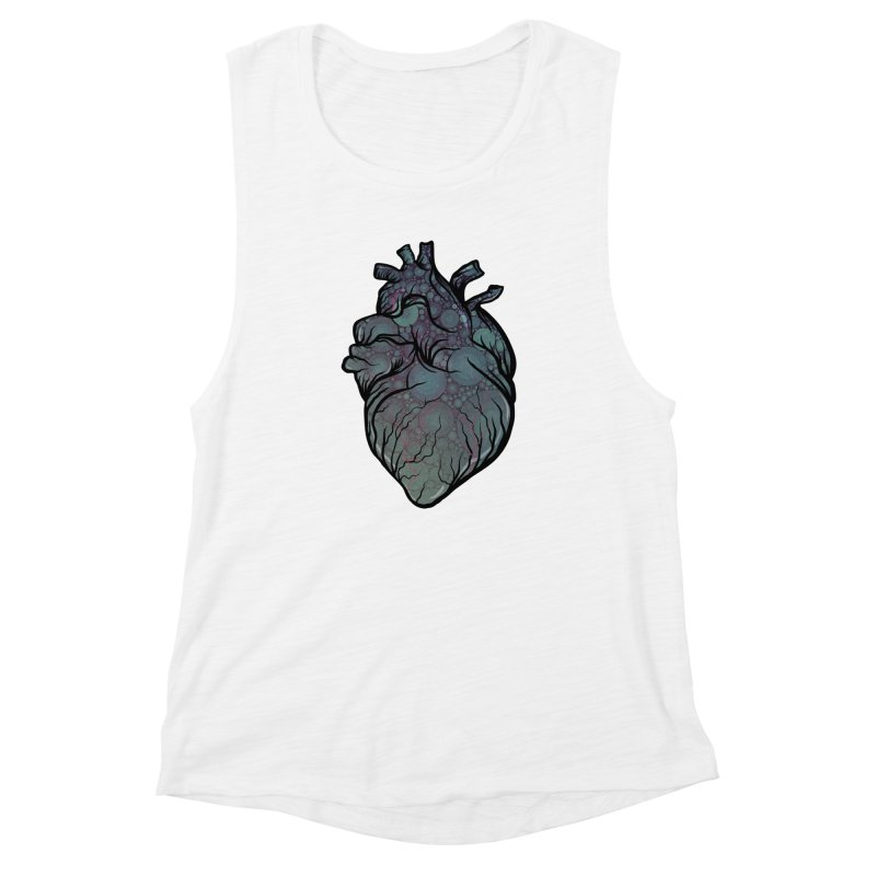 Replenish Heart Women's Muscle Tank by Stolen Halo the art of Rudy Flores