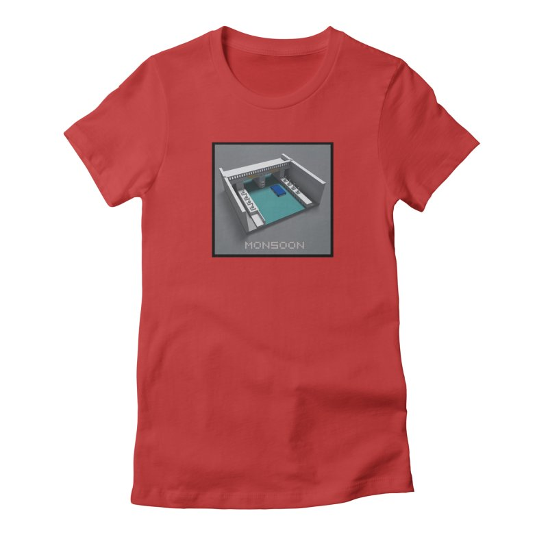 Monsoon Women's Fitted T-Shirt by Stolen Halo the art of Rudy Flores