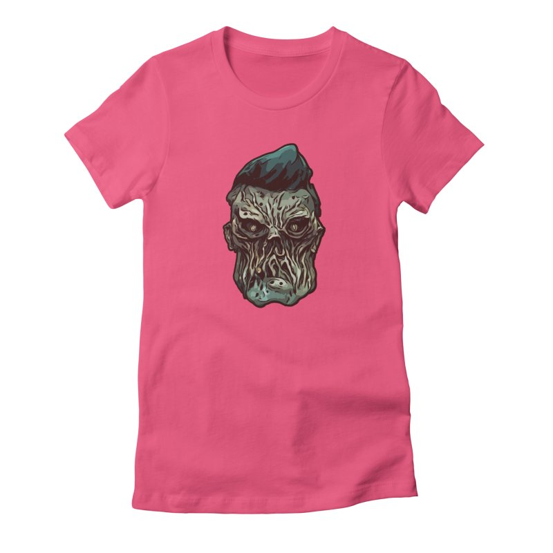 Bridge Burner Women's Fitted T-Shirt by Stolen Halo the art of Rudy Flores