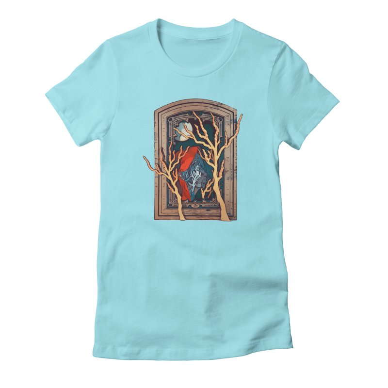 Soma Women's Fitted T-Shirt by Stolen Halo the art of Rudy Flores
