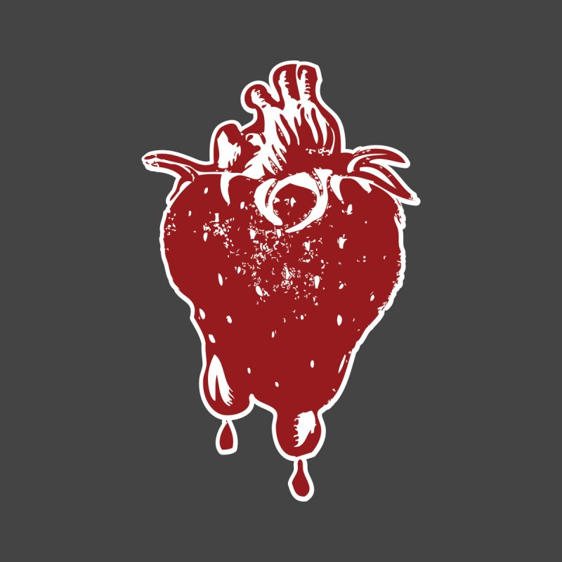Strawberry Heart Men's T-Shirt by Stolen Halo the art of Rudy Flores