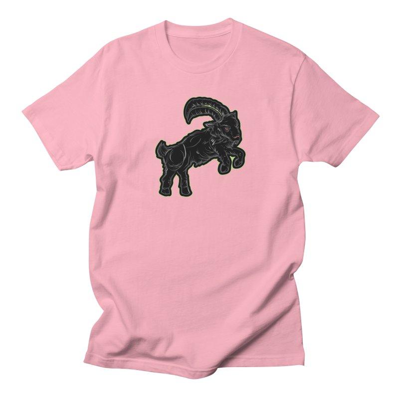 Scratchin' Black Goat Men's T-Shirt by Stolen Halo the art of Rudy Flores