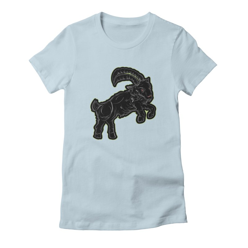 Scratchin' Black Goat Women's T-Shirt by Stolen Halo the art of Rudy Flores