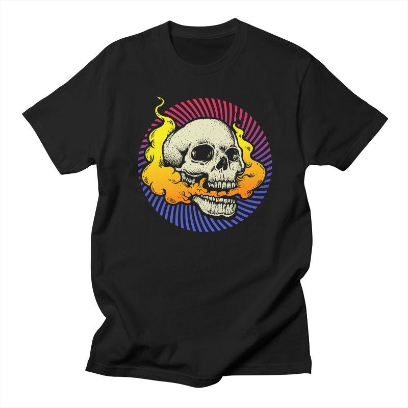Smokin' Skull Men's T-Shirt by Stoner Graphics's Artist Shop
