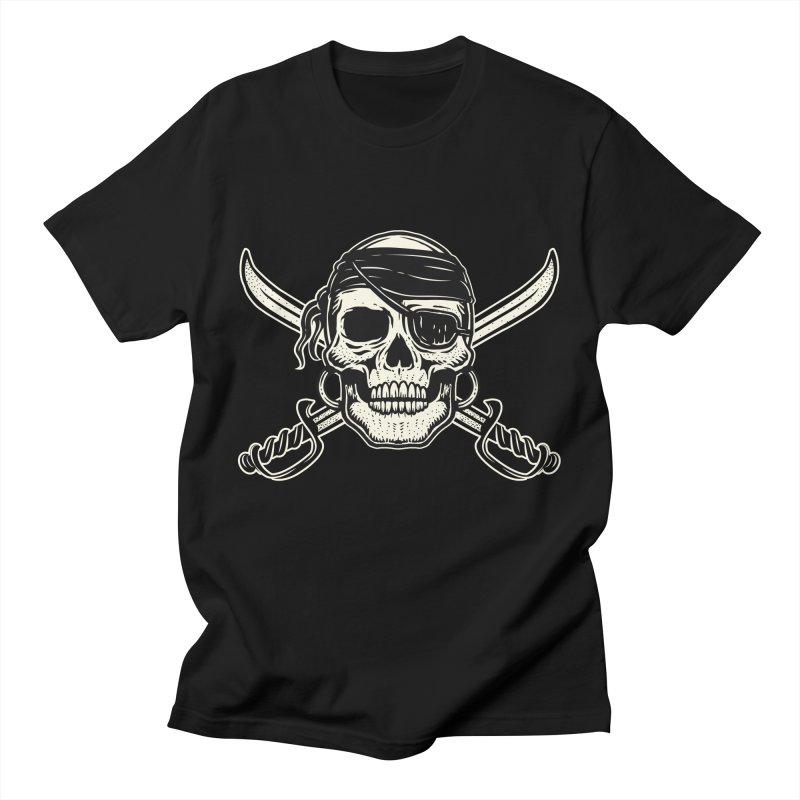 Pirate Skull Men's T-Shirt by Stoner Graphics's Artist Shop