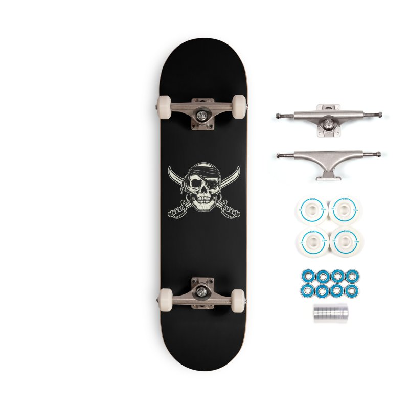 Pirate Skull Accessories Skateboard by Stoner Graphics's Artist Shop