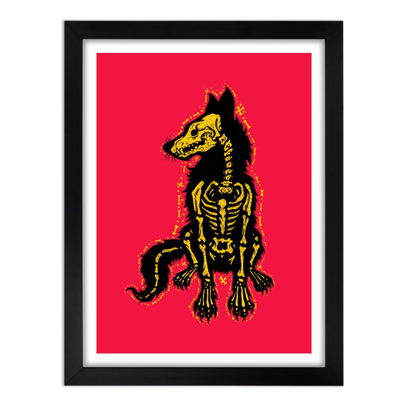 Coyote Skeleton Home Framed Fine Art Print by Stoner Graphics's Artist Shop