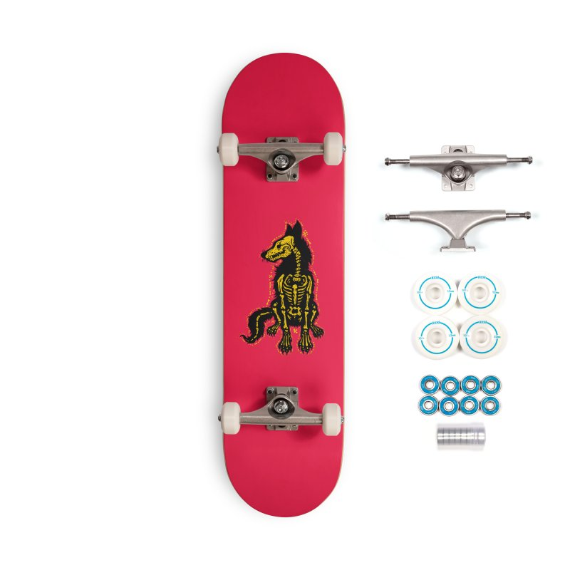 Coyote Skeleton Accessories Skateboard by Stoner Graphics's Artist Shop