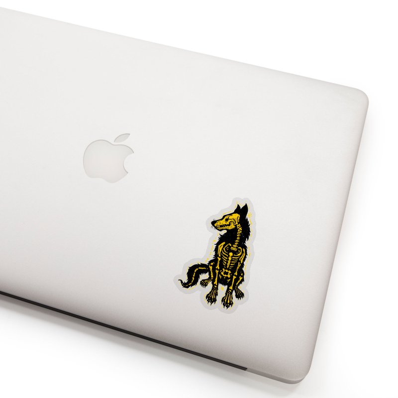Coyote Skeleton Accessories Sticker by Stoner Graphics's Artist Shop