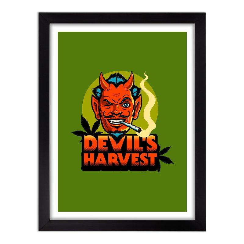 Devil's Harvest Home Framed Fine Art Print by Stoner Graphics's Artist Shop