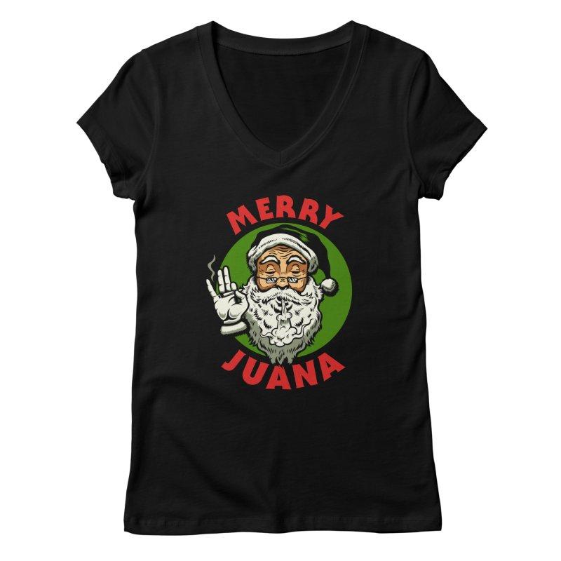 Merry Juana Women's V-Neck by Stoner Graphics's Artist Shop