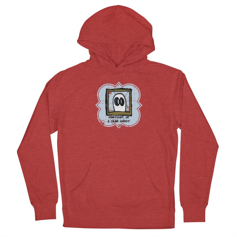 Portrait of a Crap Ghost Women's French Terry Pullover Hoody by stonestreet's Artist Shop