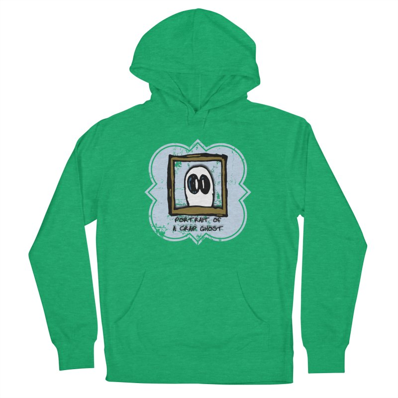 Portrait of a Crap Ghost Men's French Terry Pullover Hoody by stonestreet's Artist Shop
