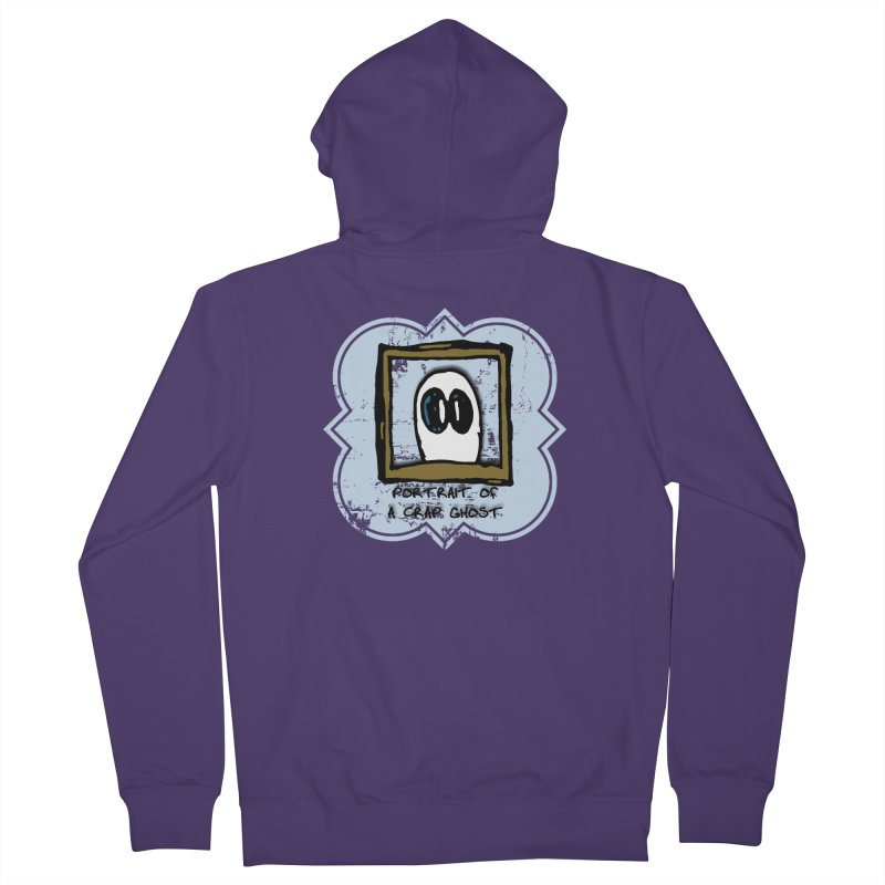 Portrait of a Crap Ghost Women's French Terry Zip-Up Hoody by stonestreet's Artist Shop