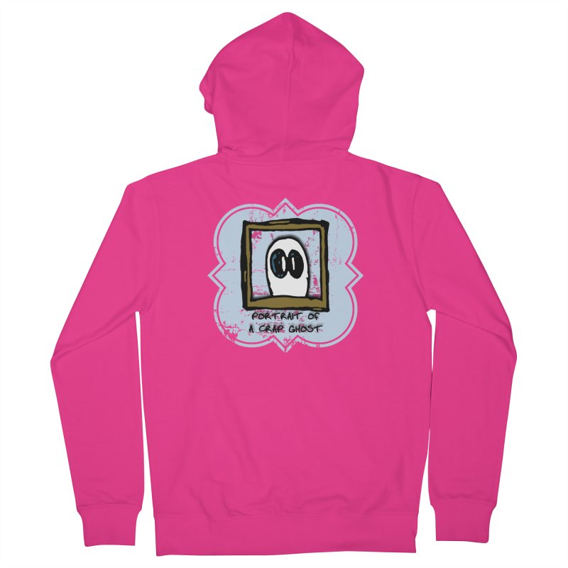 Portrait of a Crap Ghost Men's French Terry Zip-Up Hoody by stonestreet's Artist Shop