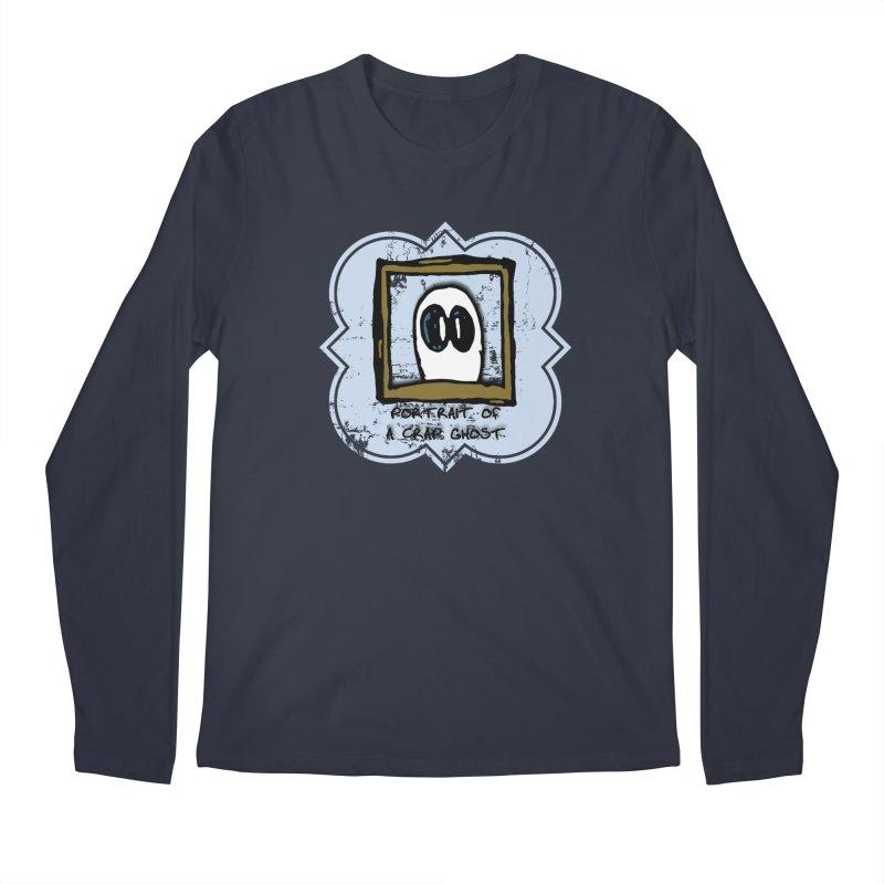 Portrait of a Crap Ghost Men's Regular Longsleeve T-Shirt by stonestreet's Artist Shop