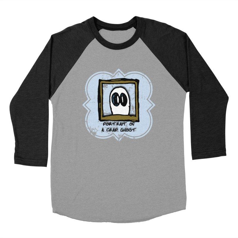 Portrait of a Crap Ghost Men's Baseball Triblend Longsleeve T-Shirt by stonestreet's Artist Shop