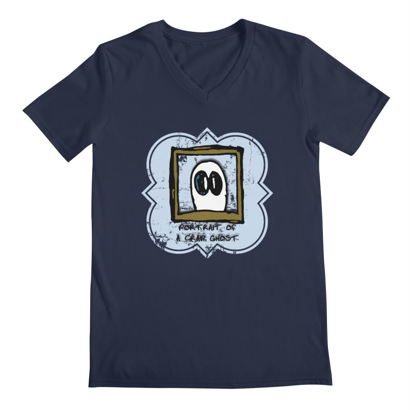 Portrait of a Crap Ghost Men's Regular V-Neck by stonestreet's Artist Shop