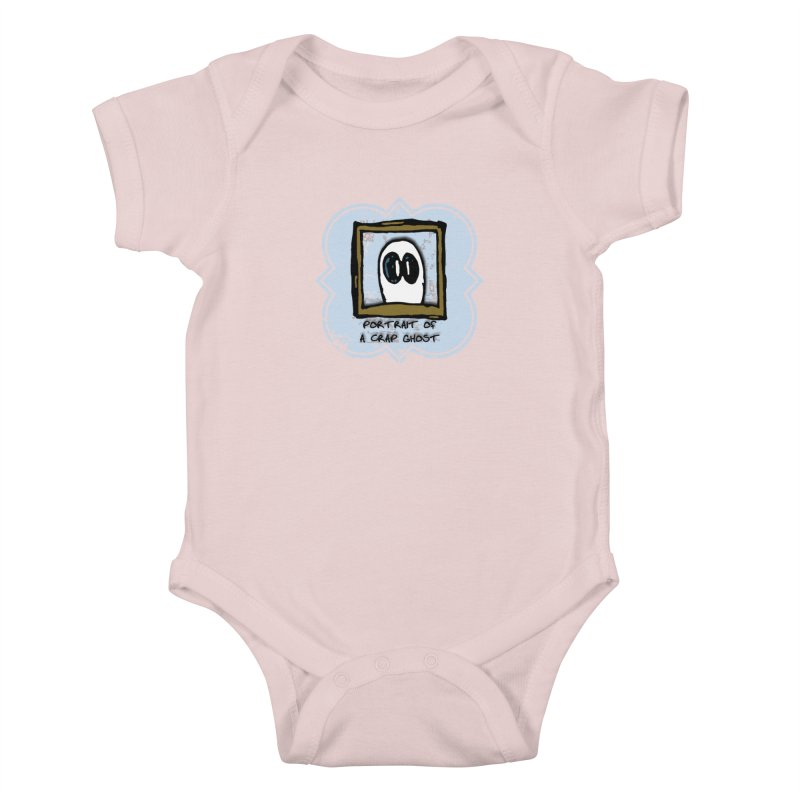 Portrait of a Crap Ghost Kids Baby Bodysuit by stonestreet's Artist Shop