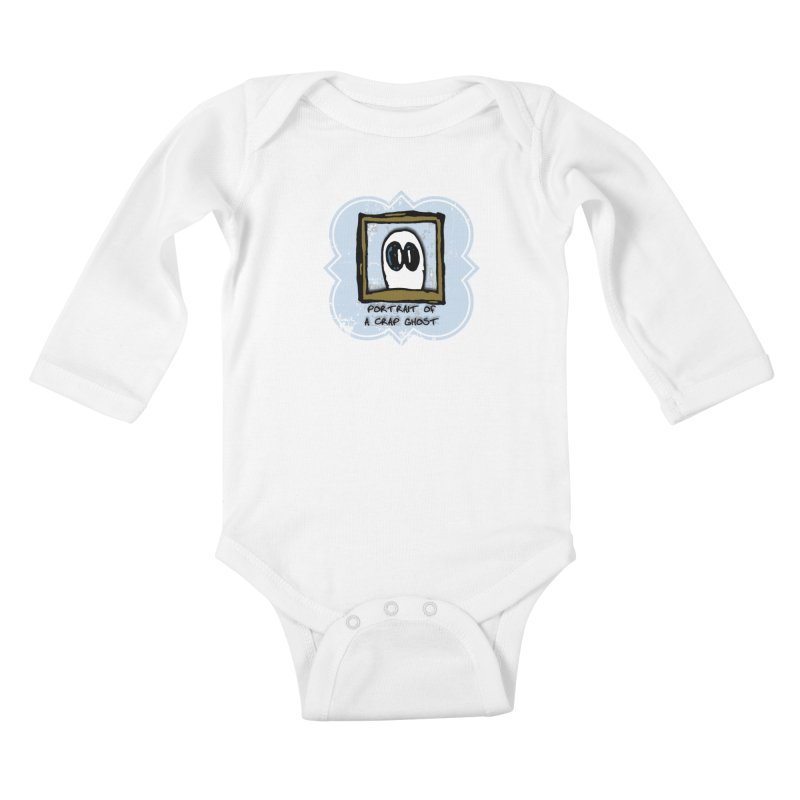 Portrait of a Crap Ghost Kids Baby Longsleeve Bodysuit by stonestreet's Artist Shop