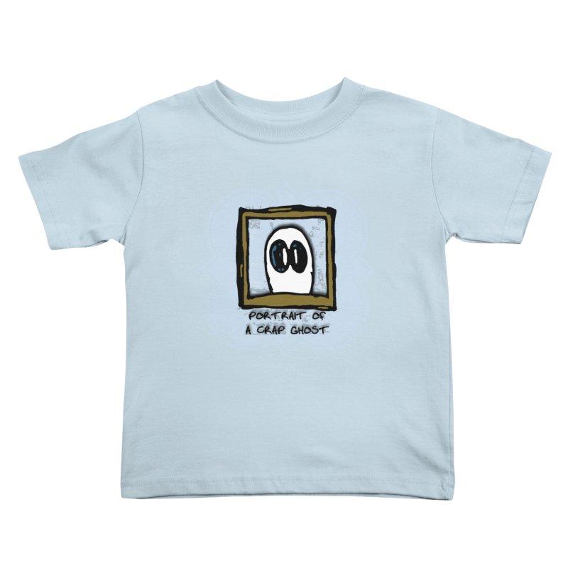 Portrait of a Crap Ghost Kids Toddler T-Shirt by stonestreet's Artist Shop
