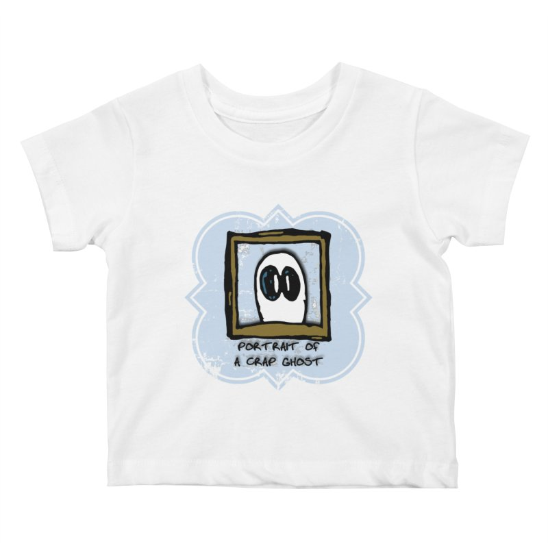 Portrait of a Crap Ghost Kids Baby T-Shirt by stonestreet's Artist Shop
