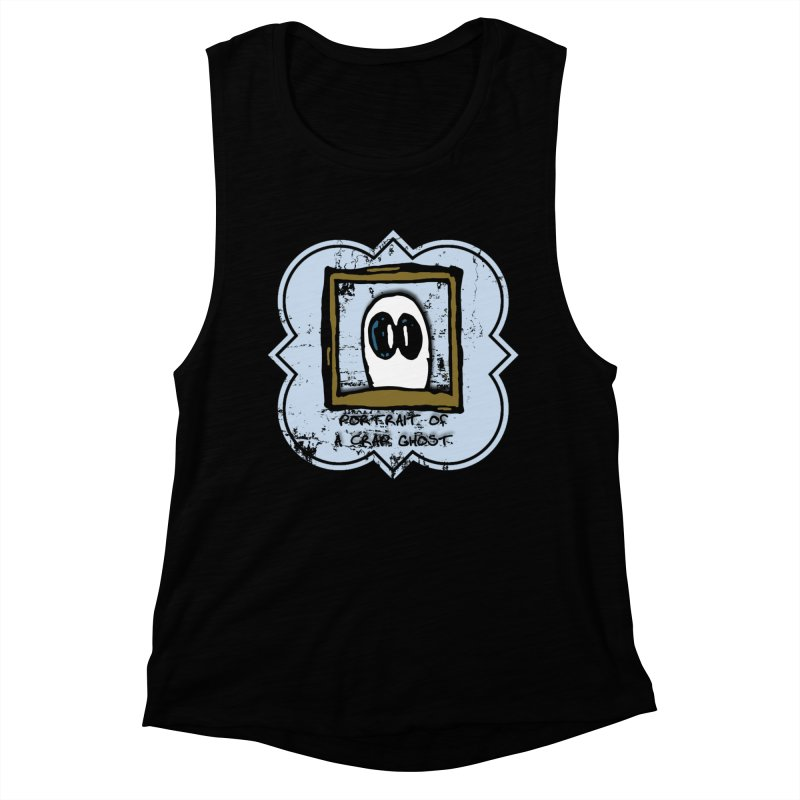 Portrait of a Crap Ghost Women's Muscle Tank by stonestreet's Artist Shop