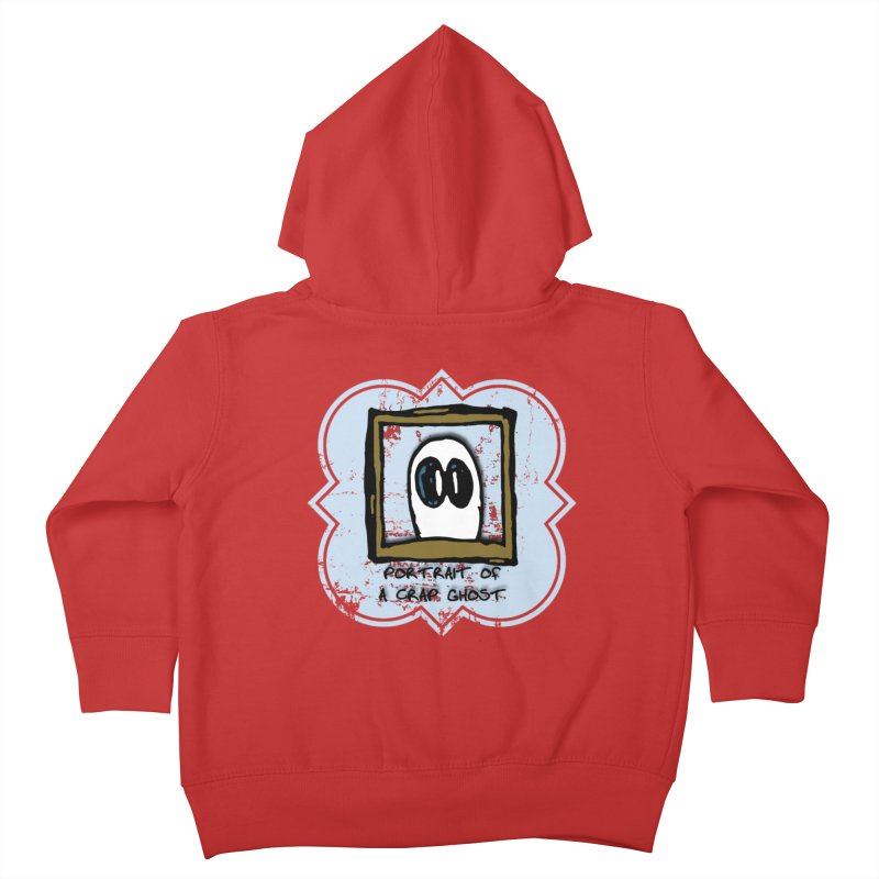 Portrait of a Crap Ghost Kids Toddler Zip-Up Hoody by stonestreet's Artist Shop