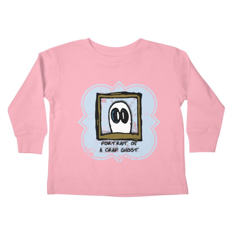 Portrait of a Crap Ghost Kids Toddler Longsleeve T-Shirt by stonestreet's Artist Shop