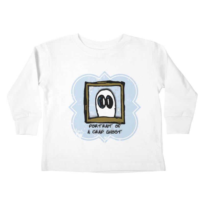 Portrait of a Crap Ghost Kids Toddler Longsleeve T-Shirt by stonestreet's Artist Shop