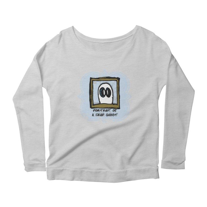 Portrait of a Crap Ghost Women's Scoop Neck Longsleeve T-Shirt by stonestreet's Artist Shop