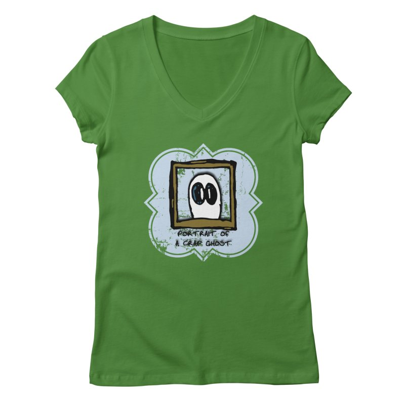 Portrait of a Crap Ghost Women's Regular V-Neck by stonestreet's Artist Shop