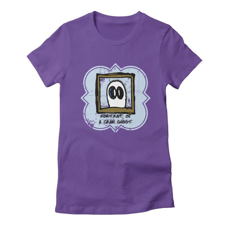 Portrait of a Crap Ghost Women's Fitted T-Shirt by stonestreet's Artist Shop