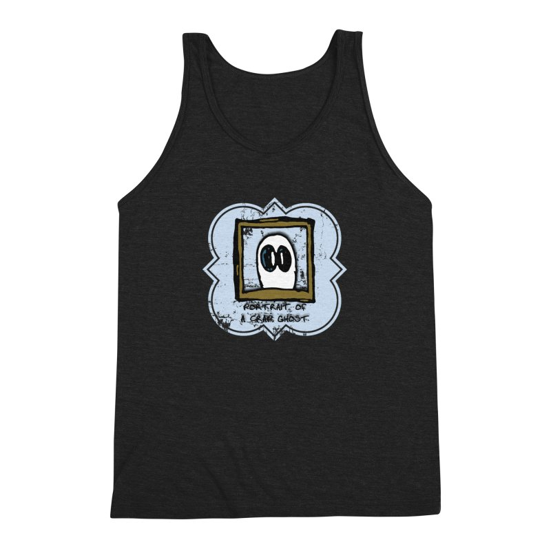 Portrait of a Crap Ghost Men's Triblend Tank by stonestreet's Artist Shop