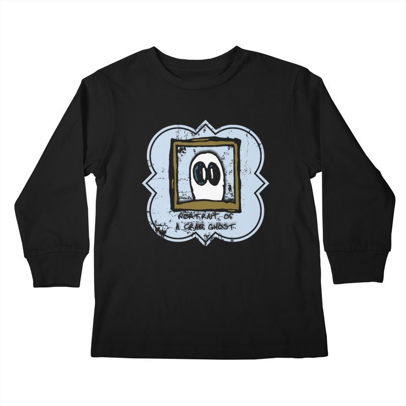 Portrait of a Crap Ghost Kids Longsleeve T-Shirt by stonestreet's Artist Shop