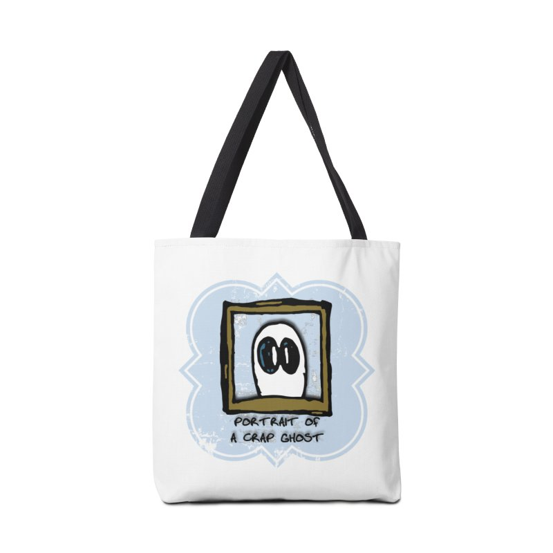 Portrait of a Crap Ghost Accessories Tote Bag Bag by stonestreet's Artist Shop