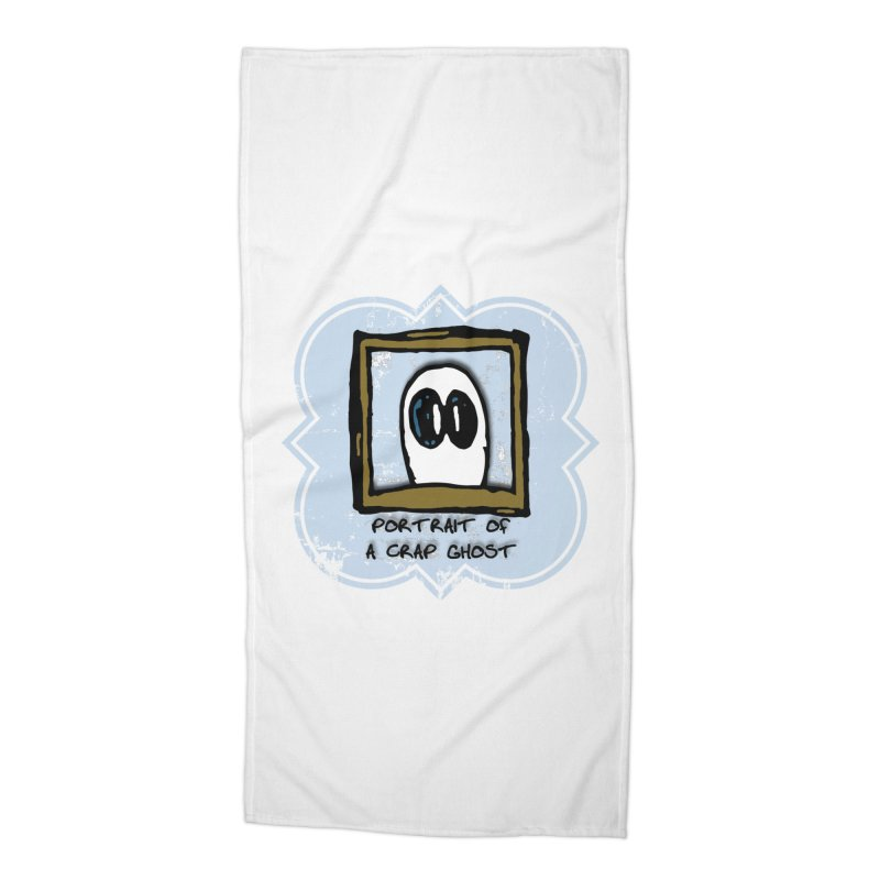 Portrait of a Crap Ghost Accessories Beach Towel by stonestreet's Artist Shop